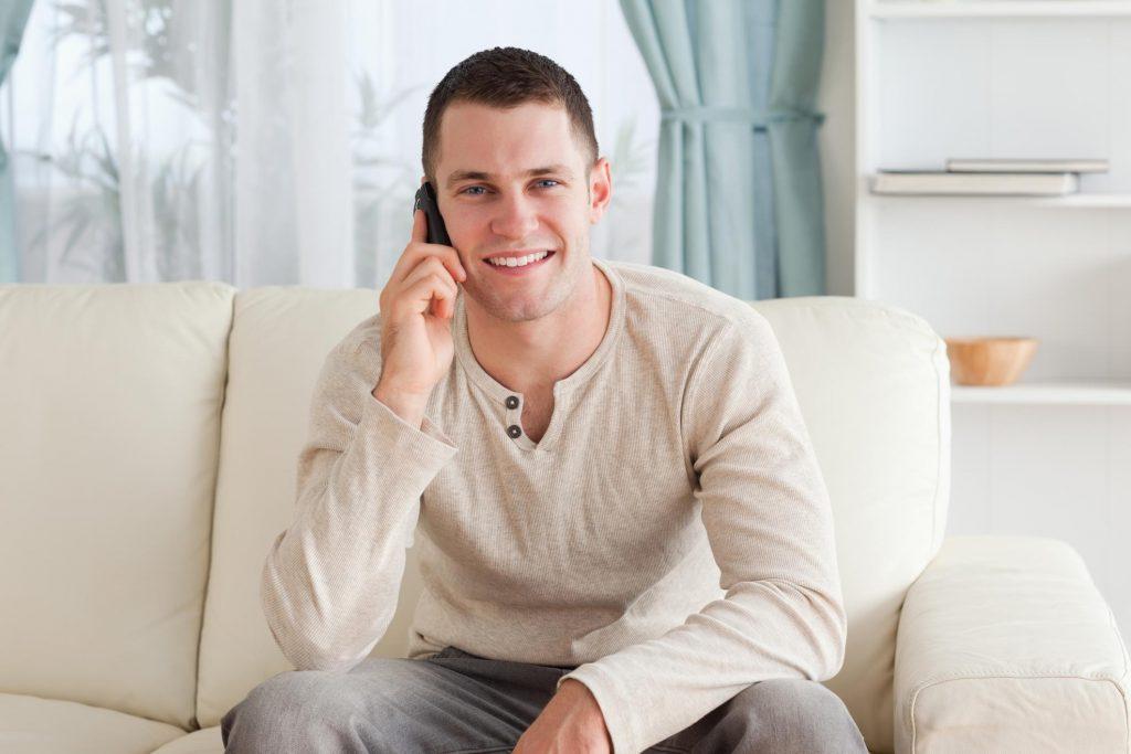 man holding a phone