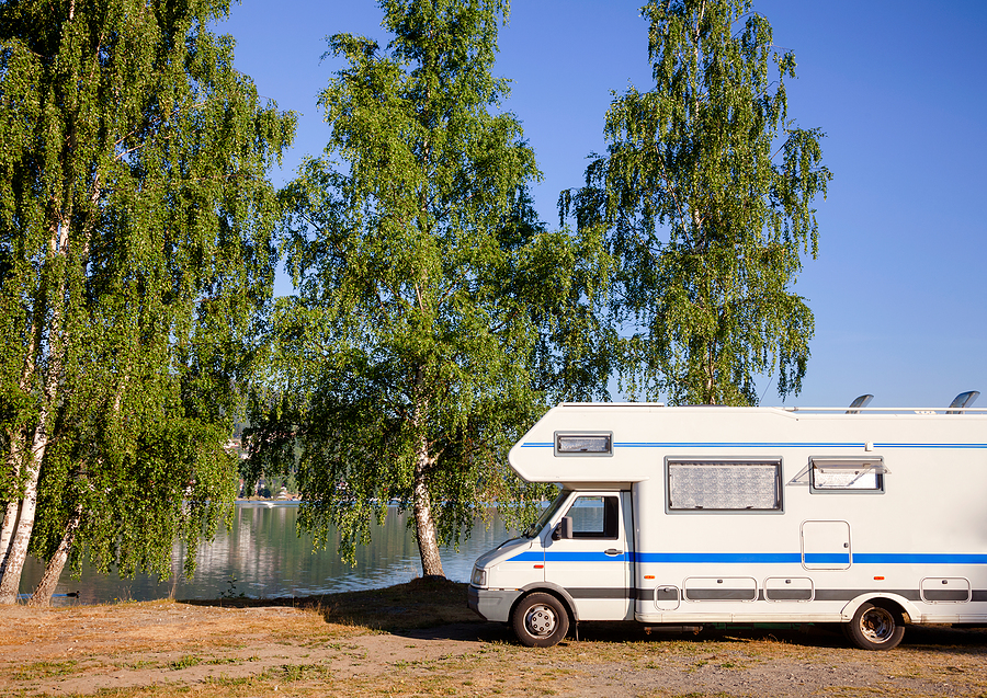 RV beside the river